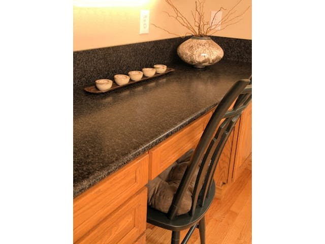 Leathered 3cm Angola Black granite