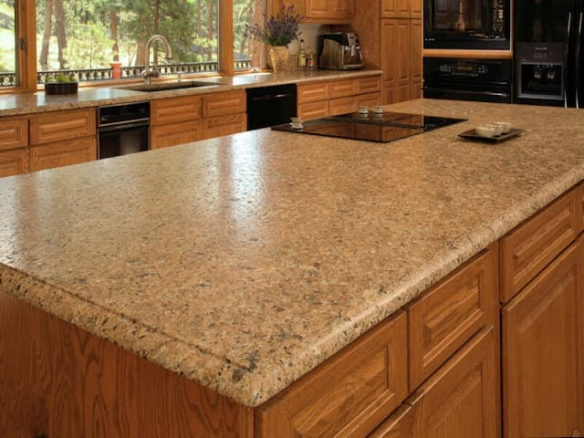 Leathered 3cm Brown Vincenza granite