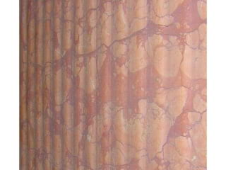 Percoco's Washboard finish shown on Rosa Verona marble in a vertical orientation